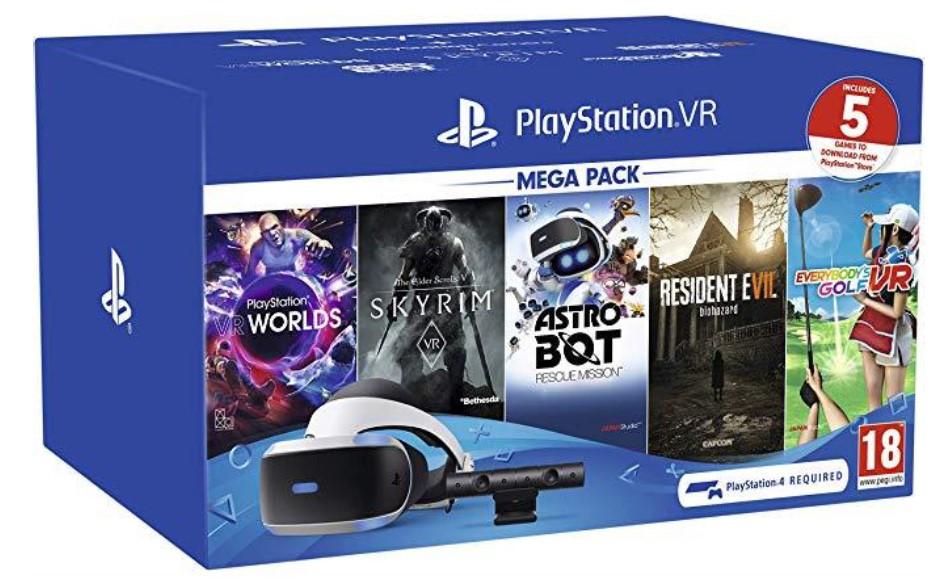 משקפי מציאות מדומה לקונסולה VR Headset MEGA PACK 2 + 5 Games