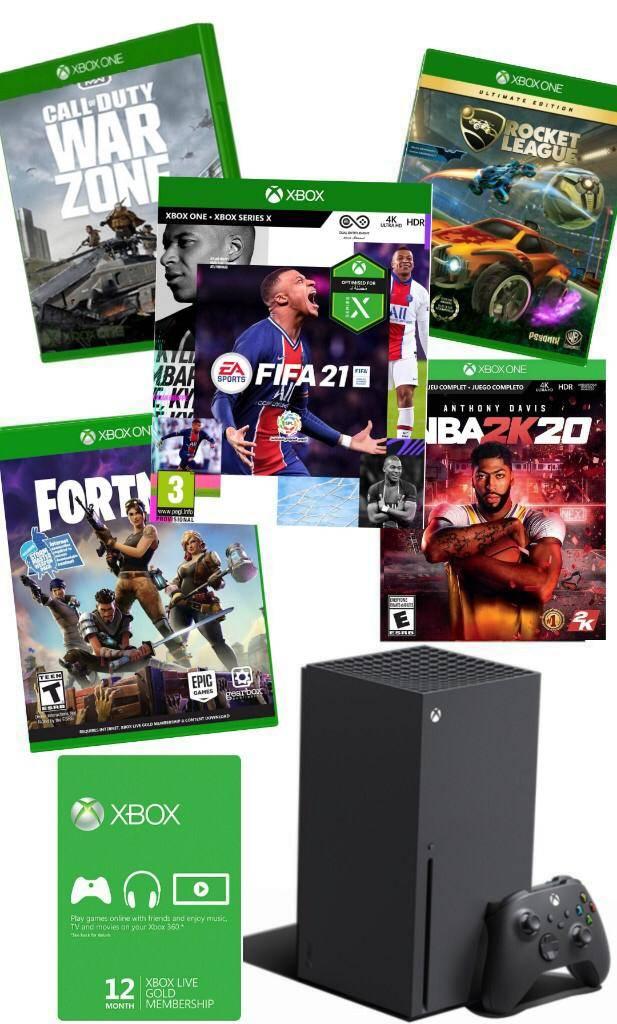 אקס בוקס XBOX SERIES X עם פיפא 21 מנוי לייב גולד לשנה ו 4 משחקים להיטים
