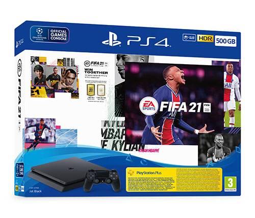 קונסולה Sony PlayStation 4 500GB הכוללת בקר ומשחק FIFA 21