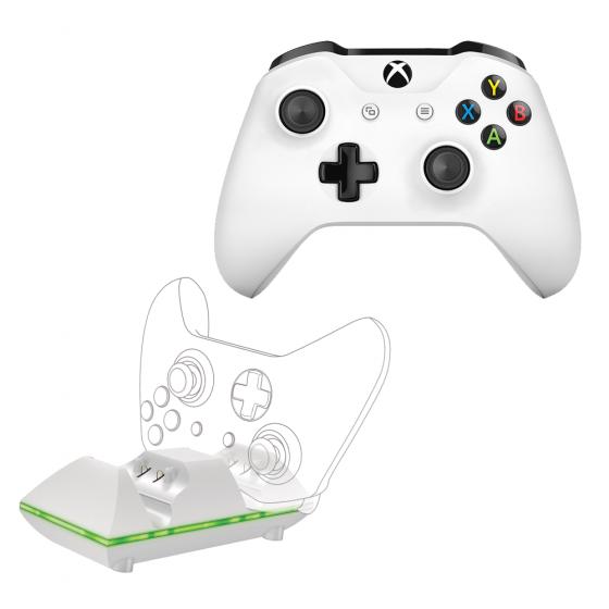 חבילת שלט Xbox אלחוטי+מטען LED כפול SPARKFOX XBOX ONE